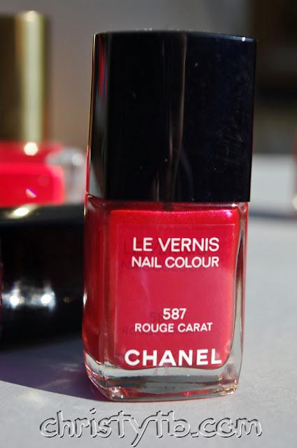 Chanel Le Vernis Nail Colour 587 Rouge Carat. Рубиновый красный.