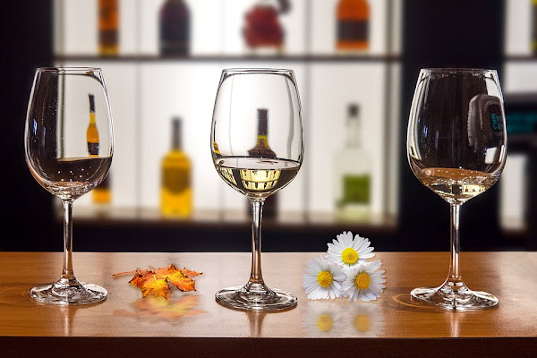 Image: glasses drinks flowers refreshment bar wine toast, by Manuel Torres Garcia on Pixabay