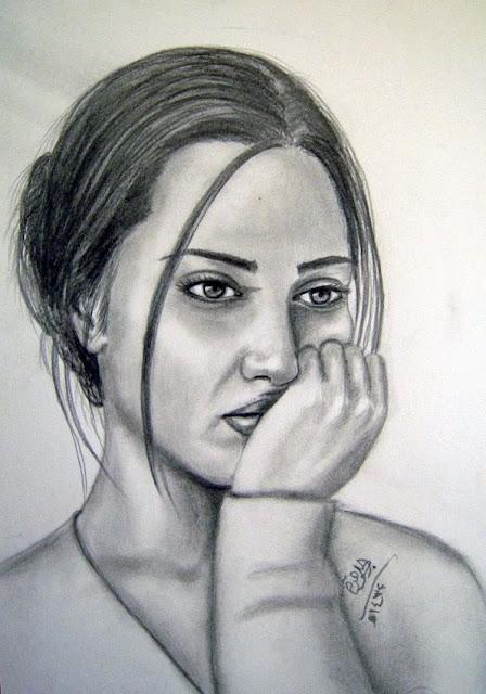 صور بنت حزينة مرسومة