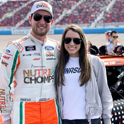 Chase with Wife Marissa Briscoe during happier times.  #NASCAR
