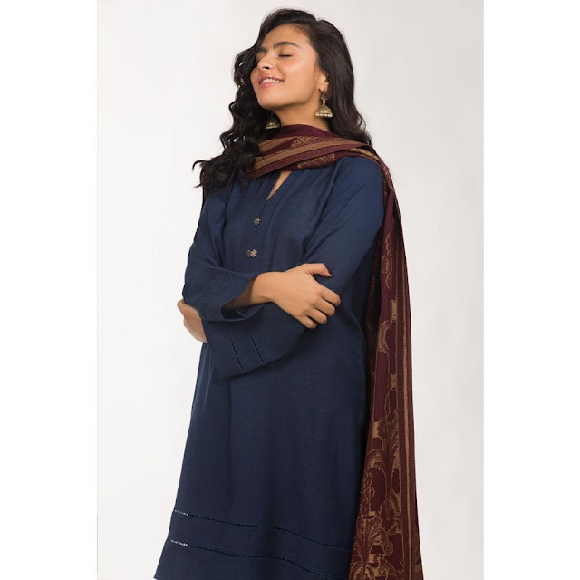 Ready to wear blue color viscose suit winter collection