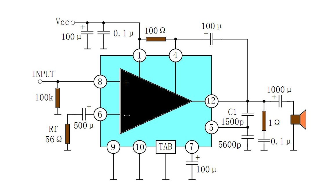 Circuit Diagram Of Audio Amplifier With Ic 810 - Somurich com