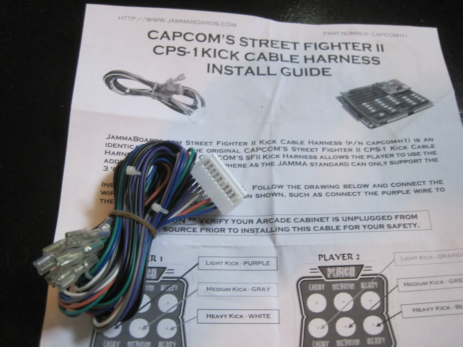 Jamma Street Fighter 2 Wire Harness 35 Wiring Diagram Images Cps Img 0385 Ii Champion Edition Arcade Restoration Kick Button Galaga At Cita