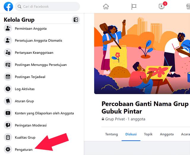 Mengubah Nama Grup Facebook Melalui PC