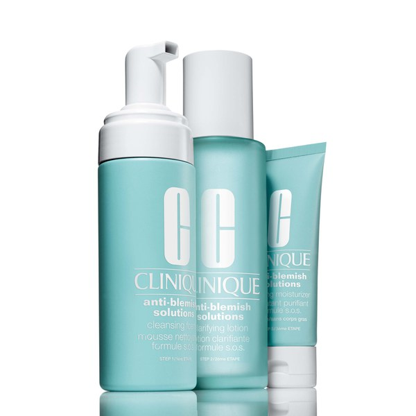Clinique's anti-blemish solutions 3 step system