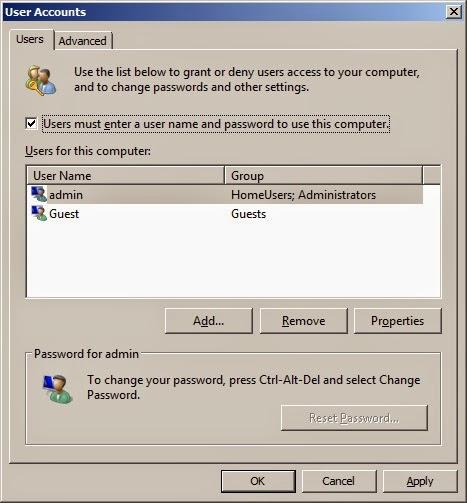 auto login administrator windows 7