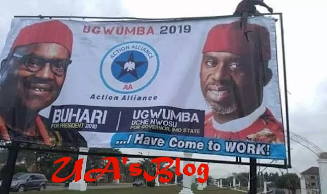 Imo guber: Nwosu's banner under AA floods Imo, as party disowns him