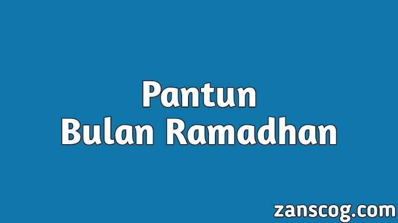 Pantun Bulan Ramadhan