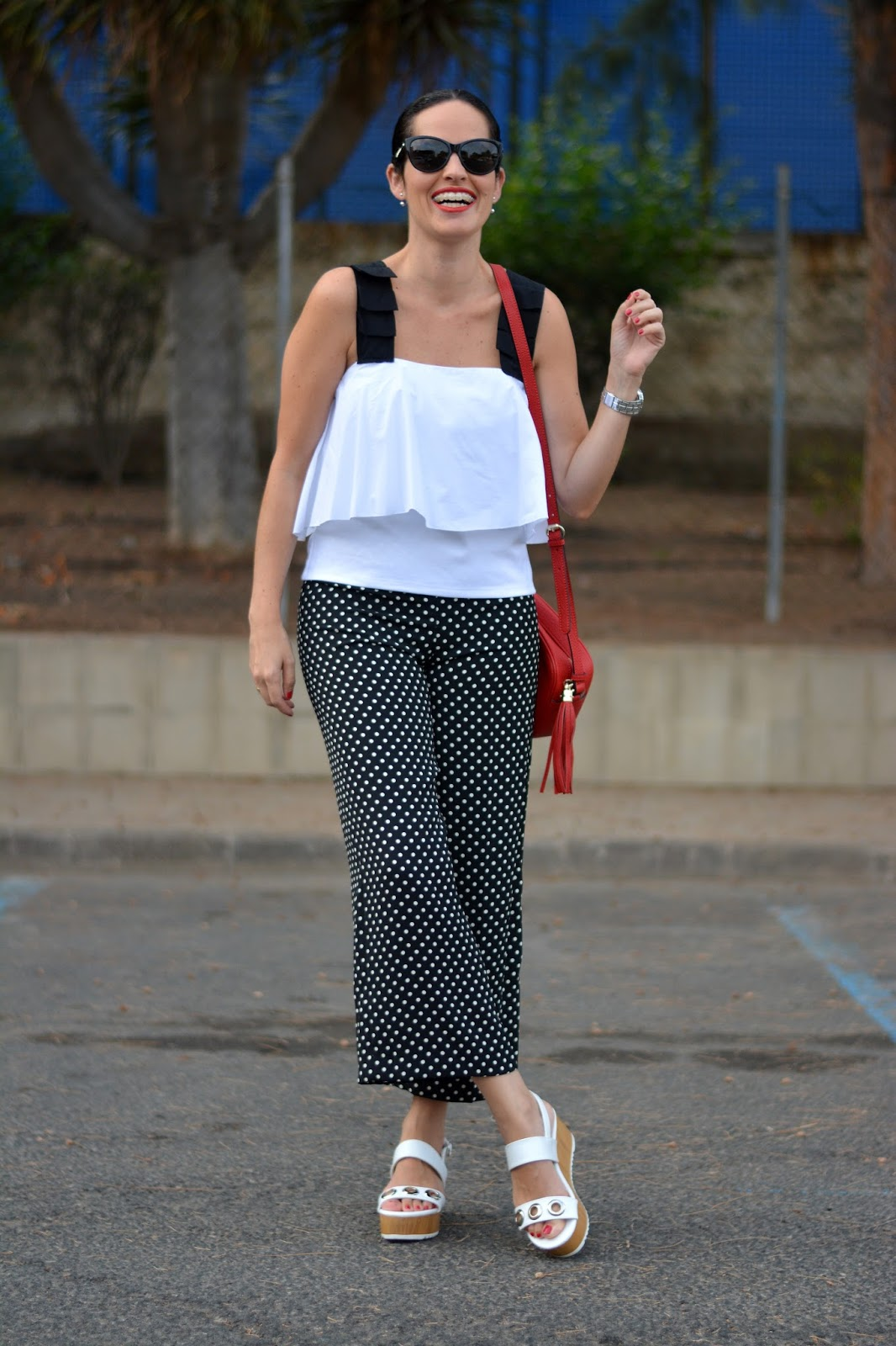 zara-polka-dots-trousers-flatform-shoes