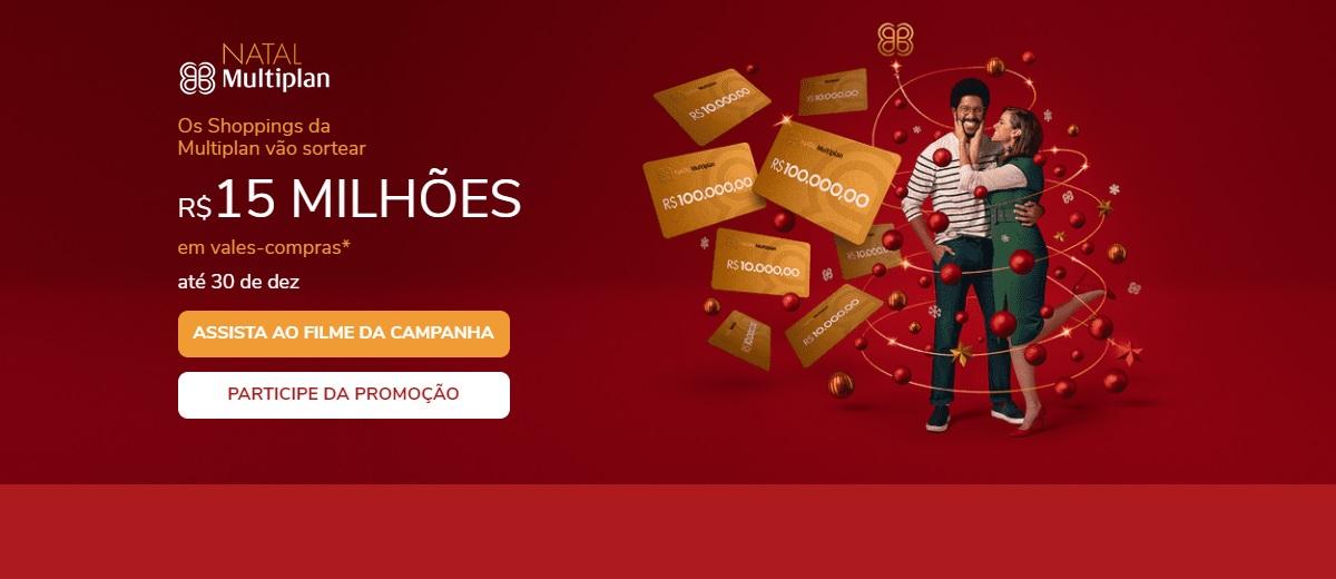 Natal 2020: Promoção Multiplan Shoppings Sorteio 15 Milhões Vales Compras Natal 2020