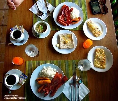 Breakfast buffet at Dos Palmas in Puerto Princesa City