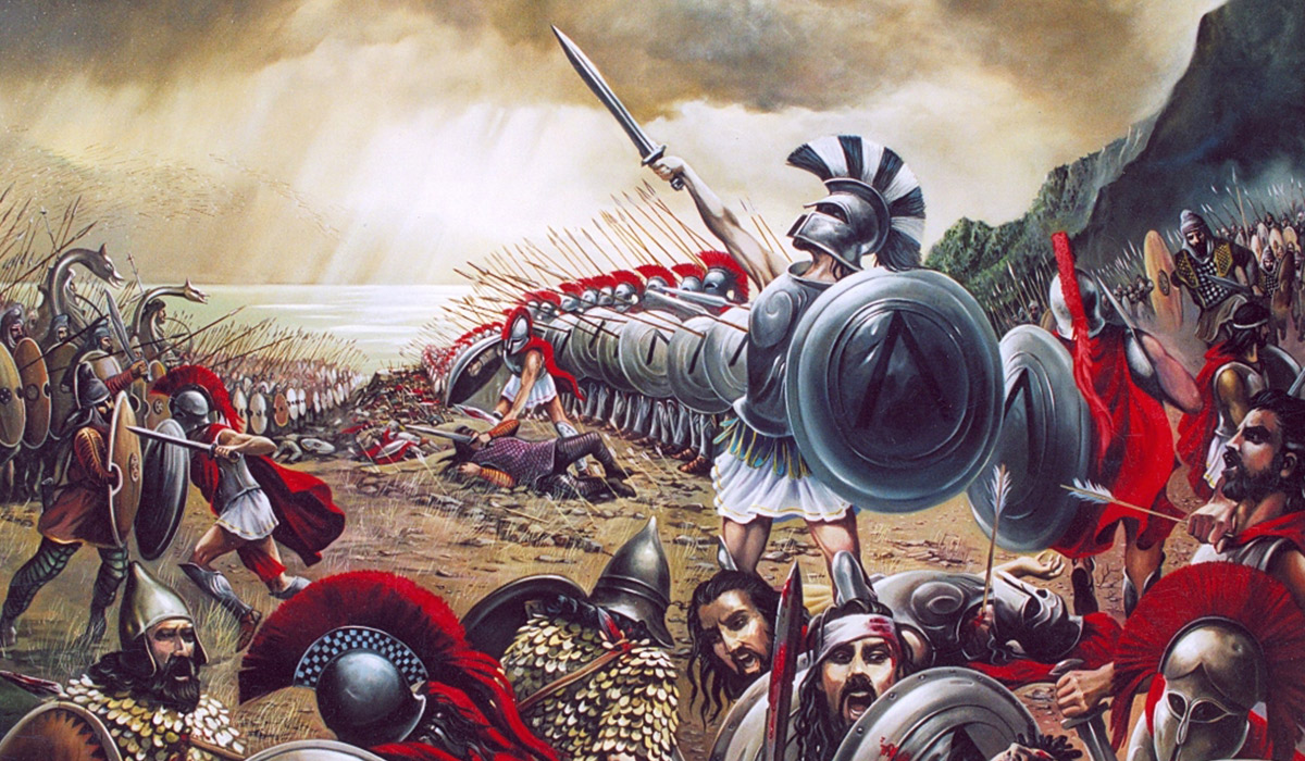 an analysis of the 300 spartans a film about the battle of thermopylai Last week saw the release of 300: rise of an empire, the sequel to the muscle-rippling, blood-splattering, historically-dodgy 300 – which told the fantastical story of the battle of thermopylae in 480 bc, when a handful of spartans fought the entirety of persia's armies for three days.