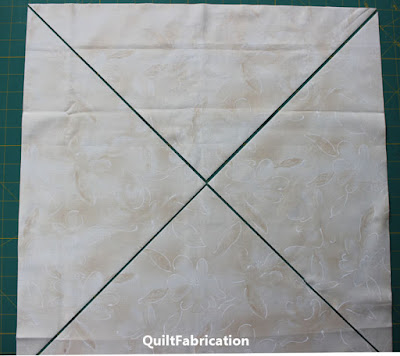 cutting on diagonals for setting triangles