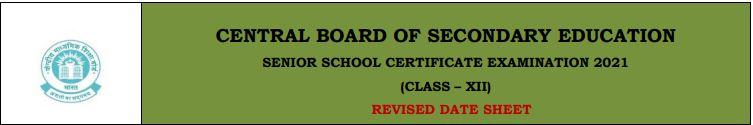cbse board 12th date sheet 2021 Download