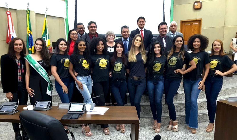 VEREADORES RECEBEM EM SESSÃO, 10 CANDIDATAS AO MISS MARABÁ 2020 - CONFIRA FOTOS..