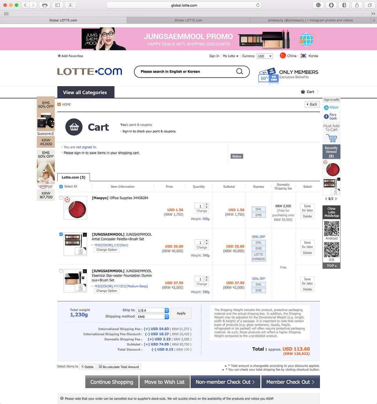 lavlilacs April 2017 haul - Global Lotte Shopping Cart page