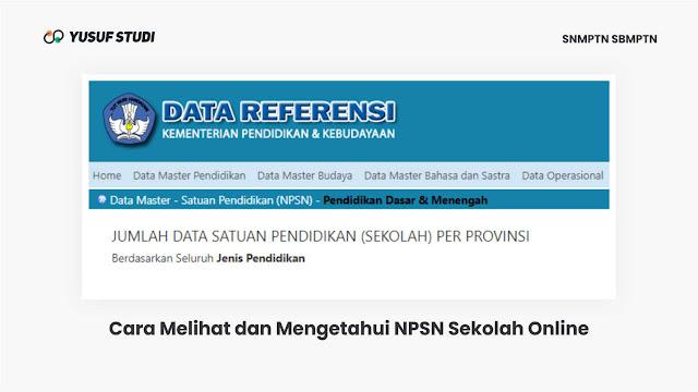 cara melihat dan mengetahui nomor npsn sekolah secara online untuk snmptn dan daftar akun ltmpt 2021
