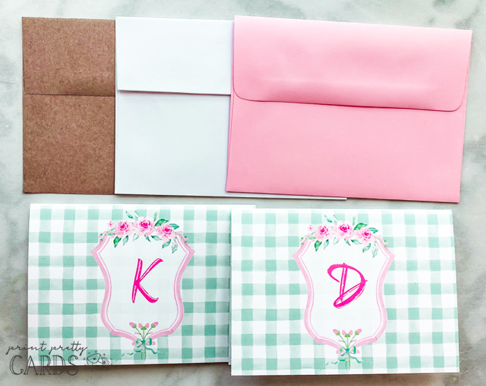 Free Printable Monogram Letters on Note Cards
