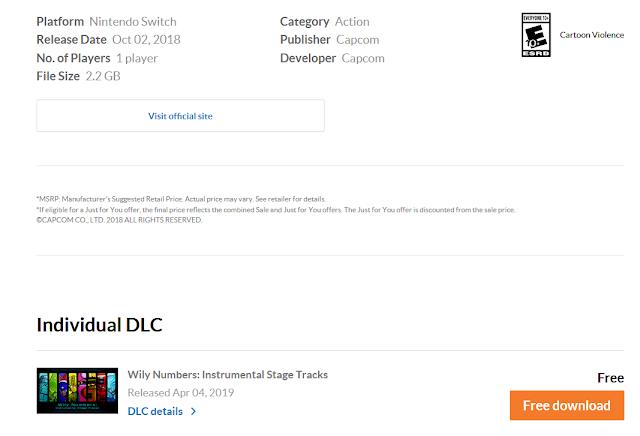 Mega Man 11 Nintendo Switch instrumental stage tracks free download