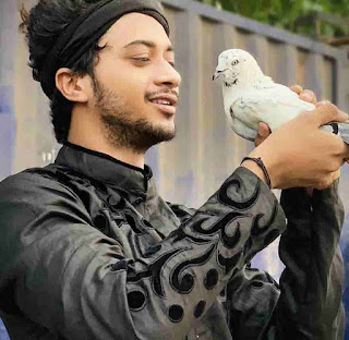 Hasnain khan With Pigeon
