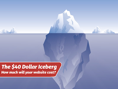 The $40 Iceberg - how much will your website cost?