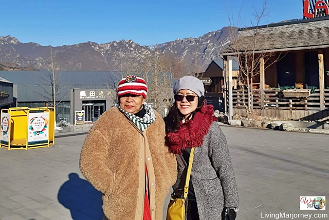 with mom at Great Wall Mutianyu