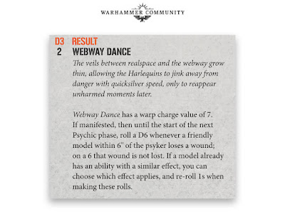 Webway Dance Arlequines kill team