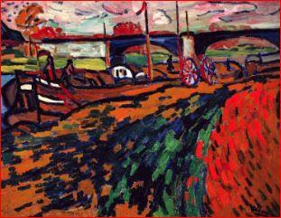 COMBINAZIONI ARTISTICHE DI COLORI VIVACI - dipinto ad olio di Maurice De Vlaminck - Blog Artistah24