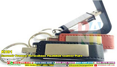 Souvenir Promosi Perusahaan Flashdisk Leather Plate