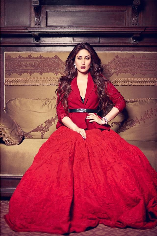 f2f8868b22b7a8 Kareena was looking drop dead gorgeous in a red jumpsuit during the launch  of her film Heroine. She paired it up with gold colored belt and hand cuff