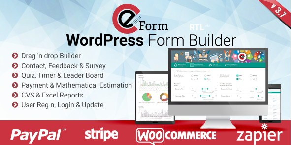 Download Eform v3.7.4 Wordpress Form Builder Plugin Free