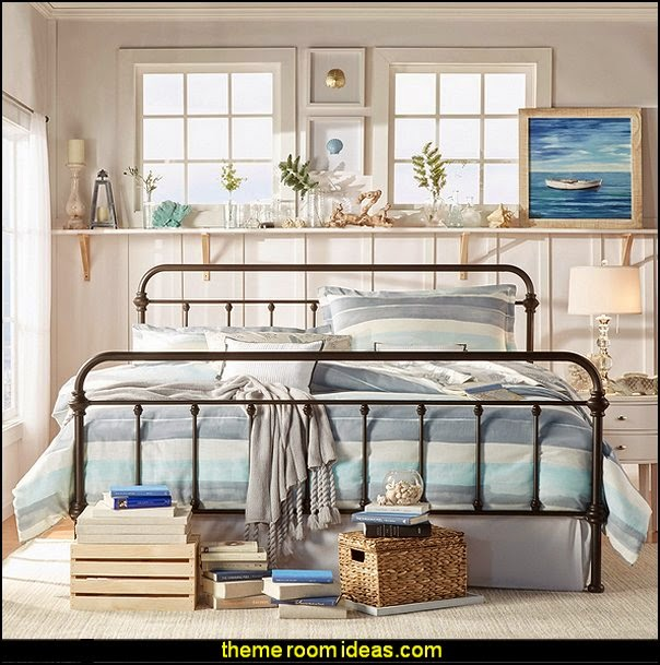 INSPIRE Q Giselle Antique Dark Bronze Graceful Lines Victorian Iron Metal King-sized Bed  seaside cottage decorating ideas - coastal living living room ideas - beach cottage coastal living style decorating ideas - beach house decor - seashell decor - nautical bedroom furniture