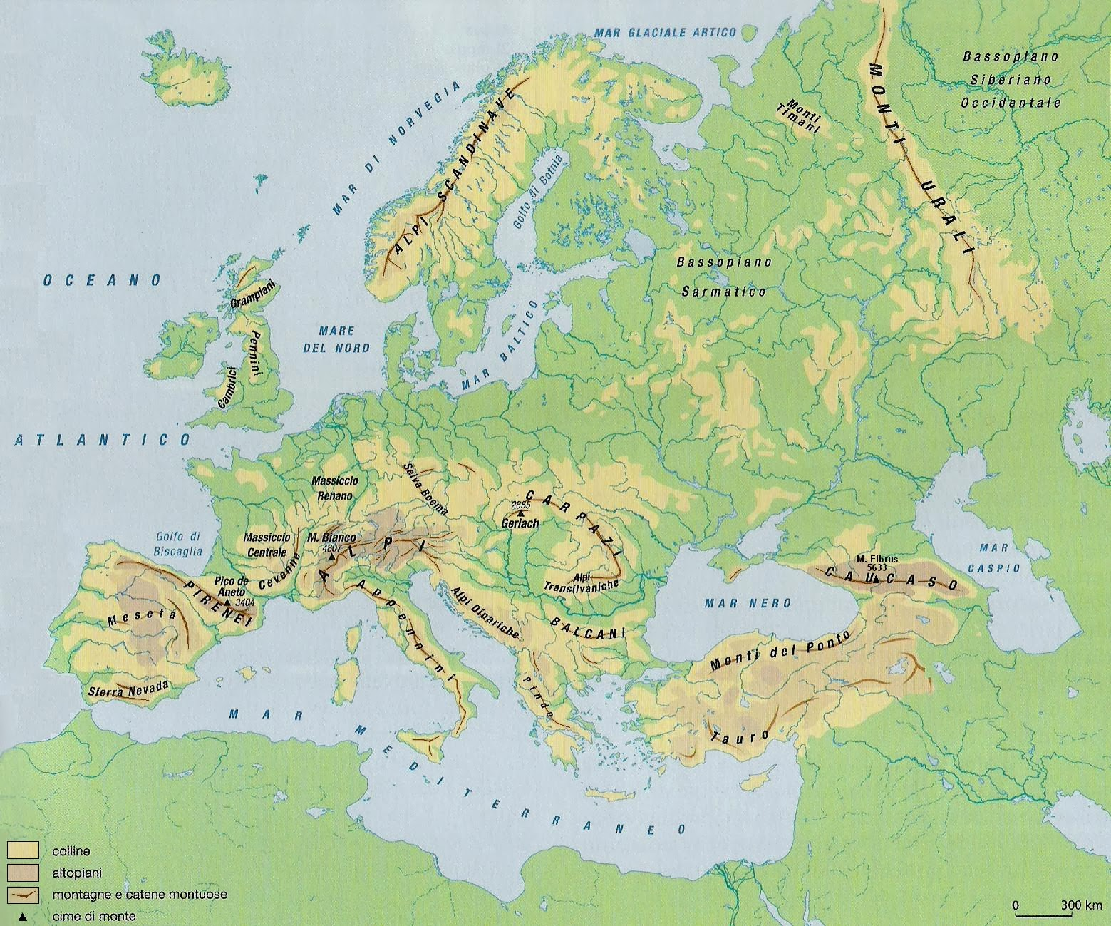 Cartina Fisica Europa Monti Pieterduisenberg