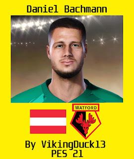 PES 2021 Faces Daniel Bachmann by VikingDuck13