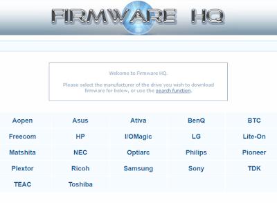Descargar los firmware actualizados de tus unidades ópticas