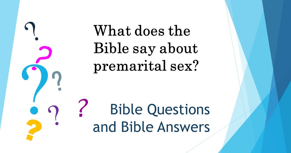 What Does God Say About Premarital Sex