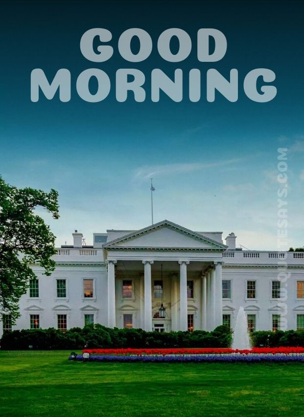 Beautiful Good Morning Whitehouse