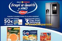 Logo Findus ''Scegli la qualità e vinci': buoni spesa Conad e Frigo Smart Samsung