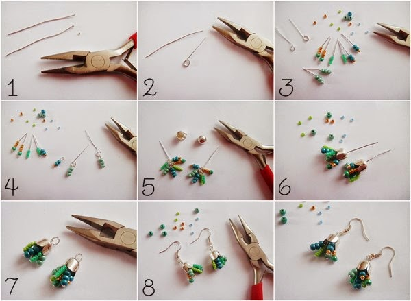 DIY : Boucles d'oreilles façon succulentes
