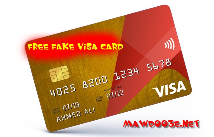 How to get a free fake and effective Visa card through
