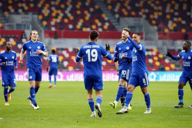 Leicester falls to a draw against Wolverhampton in the English Premier League