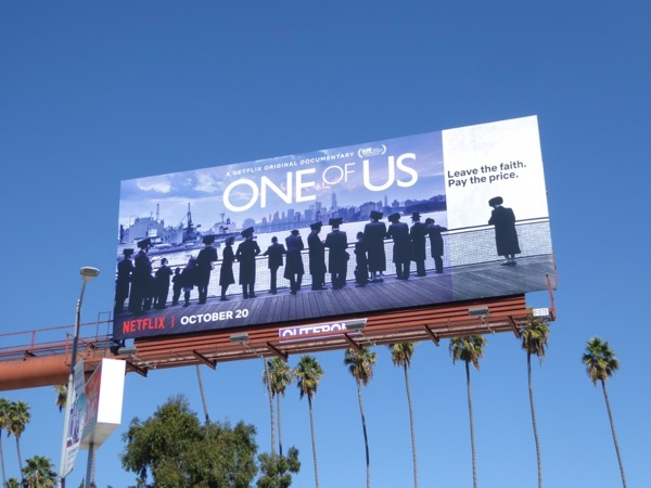 One of Us documentary billboard