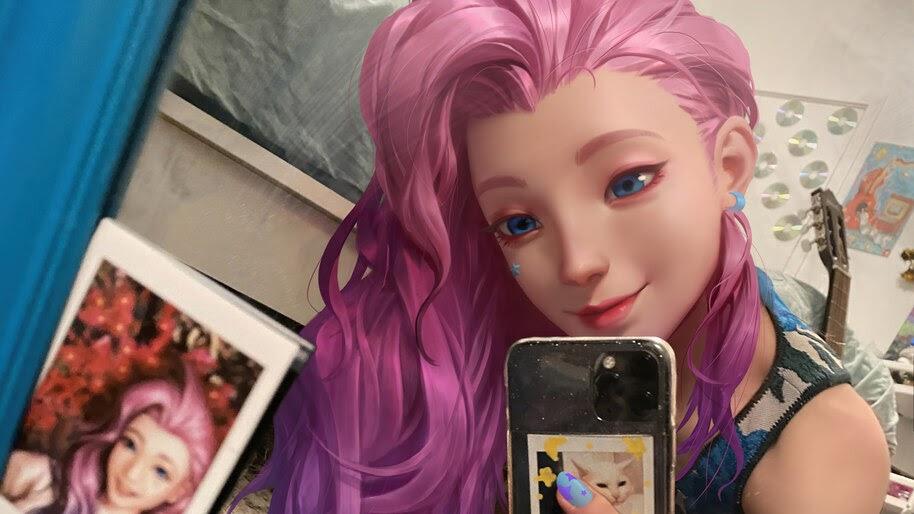 Seraphine, LoL, Selfie, 4K, #5.2783