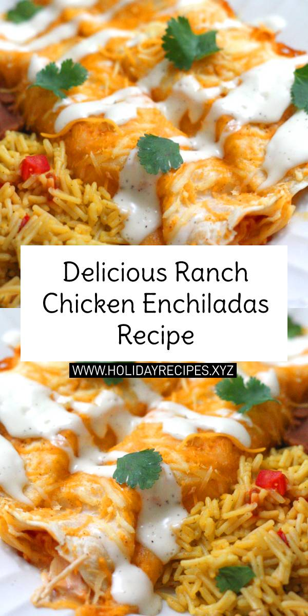 Delicious Ranch Chicken Enchiladas Recipe | Chicken Recipe Easy | Best Chicken Recipe | Easy Chicken Recipe For Dinner #ranchchicken #ranch #chicken #chickenrecipe #enchiladas #chickenenchiladas #italianfood #italianrecipe #easychickenrecipe #easydinnerrecipe #dinner #dinnerrecipe #maindish #dish