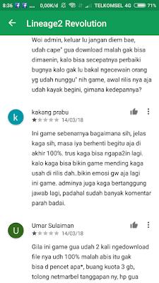 Tanggapan pengguna di Playstore (5)