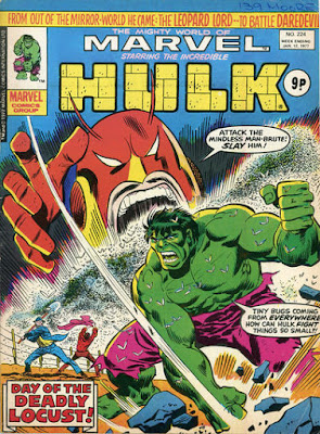 Mighty World of Marvel #224, Hulk vs the Locust
