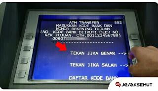 masukan Kode Bank + No Rekening
