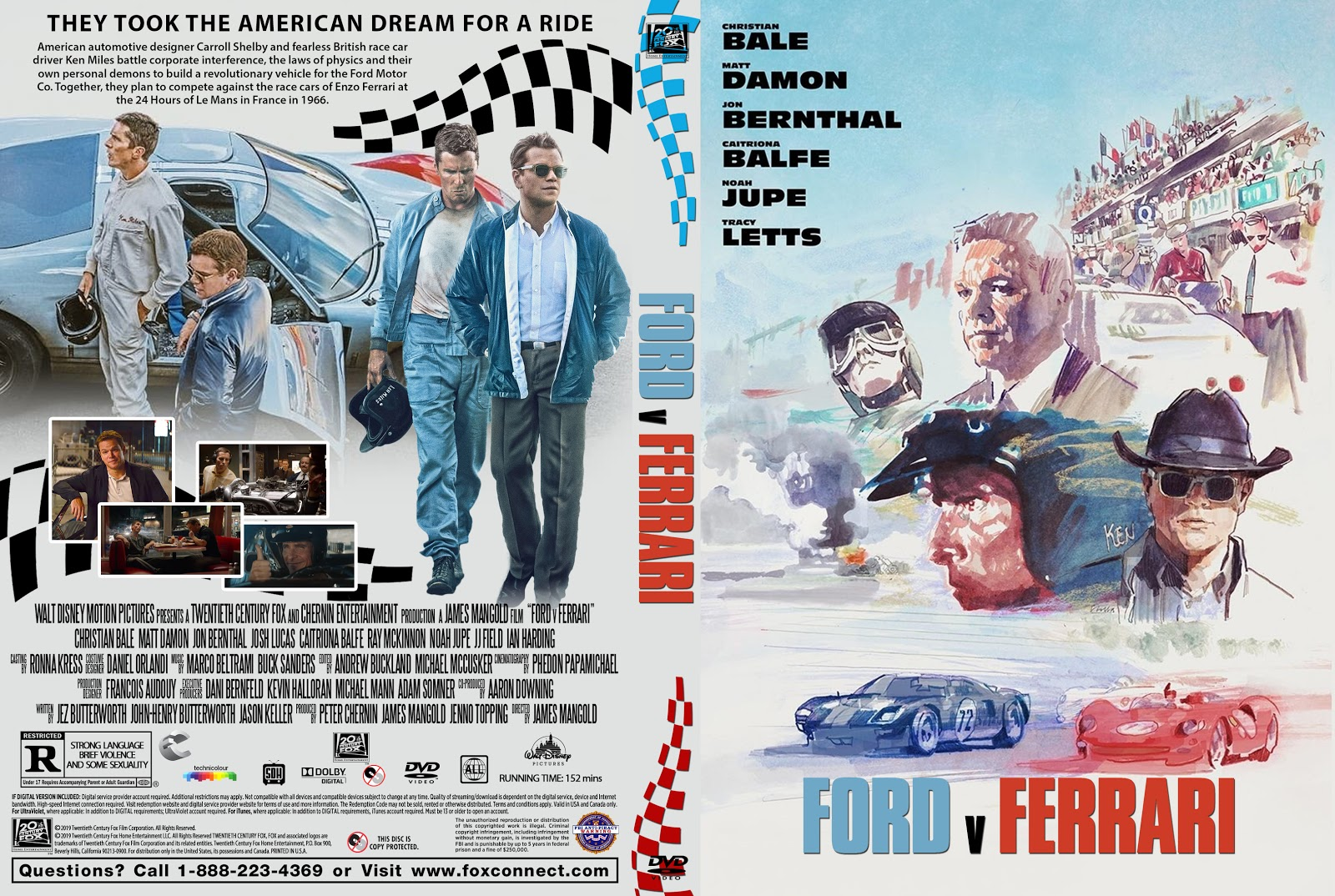 Ford V Ferrari Dvd Cover Cover Addict Free Dvd Bluray Covers And Movie Posters