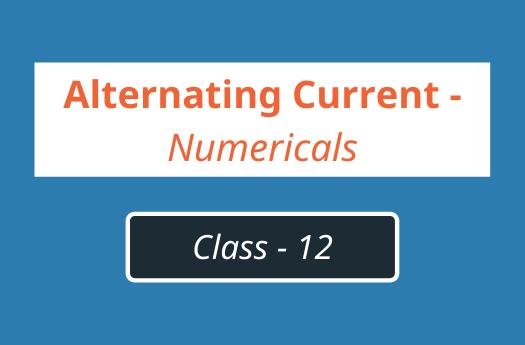 alternating current numericals