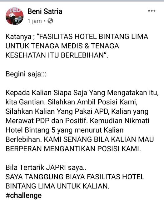 Dokter Asal Medan Tantang Aliansi BEM Jakarta